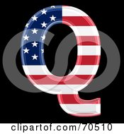 Royalty Free RF Clipart Illustration Of An American Symbol Capital Q by chrisroll