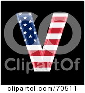 Royalty Free RF Clipart Illustration Of An American Symbol Capital V by chrisroll