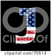 Royalty Free RF Clipart Illustration Of An American Symbol Capital J by chrisroll