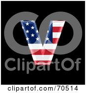 Royalty Free RF Clipart Illustration Of An American Symbol Lowercase V by chrisroll