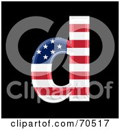 Royalty Free RF Clipart Illustration Of An American Symbol Lowercase D by chrisroll