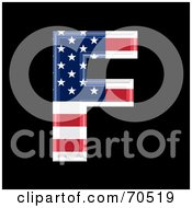 Royalty Free RF Clipart Illustration Of An American Symbol Capital F