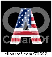 Royalty Free RF Clipart Illustration Of An American Symbol Capital A by chrisroll