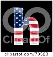 Royalty Free RF Clipart Illustration Of An American Symbol Lowercase H