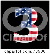 Royalty Free RF Clipart Illustration Of An American Symbol Number 3