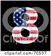 Royalty Free RF Clipart Illustration Of An American Symbol Number 8