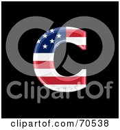 Royalty Free RF Clipart Illustration Of An American Symbol Lowercase C