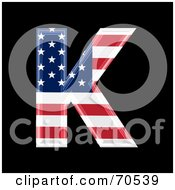 Royalty Free RF Clipart Illustration Of An American Symbol Capital K
