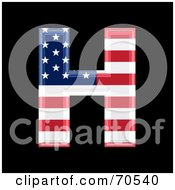 Royalty Free RF Clipart Illustration Of An American Symbol Capital H