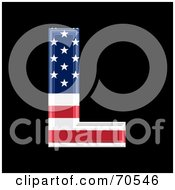 Royalty Free RF Clipart Illustration Of An American Symbol Capital L