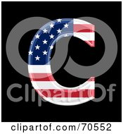 Royalty Free RF Clipart Illustration Of An American Symbol Capital C