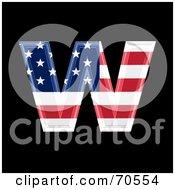 American Symbol Lowercase W by chrisroll