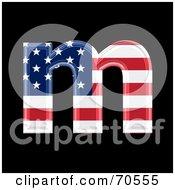 American Symbol Lowercase M