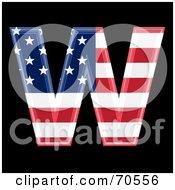 American Symbol Capital W by chrisroll