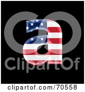 Royalty Free RF Clipart Illustration Of An American Symbol Lowercase A by chrisroll