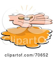 Royalty Free RF Clipart Illustration Of A Hand Holding Spare Change