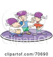 Royalty Free RF Clipart Illustration Of Three Lodge Brothers Talking And Drinking