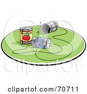 Royalty Free RF Clipart Illustration Of A Network Of Three Way Caling Cans by jtoons