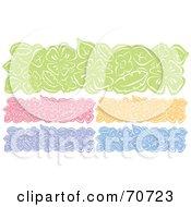 Poster, Art Print Of Digital Collage Of Colorful Flower Website Headers