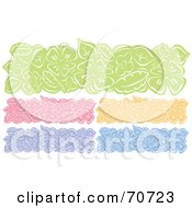 Royalty Free RF Clipart Illustration Of A Digital Collage Of Colorful Flower Website Headers