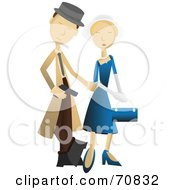 Royalty Free RF Clipart Illustration Of A Male Detective With A Woman