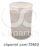 3d White Tin Can