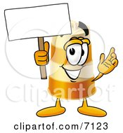 Barrel Mascot Cartoon Character Holding A Blank Sign