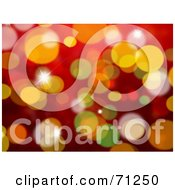 Royalty Free RF Clipart Illustration Of A Red And Gold Christmas Sparkle Background