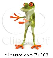 3d Green Poison Dart Frog Presenting by Julos
