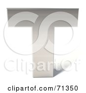 Royalty Free RF Clipart Illustration Of A 3d Chrome Capital Letter T