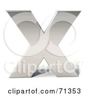 Royalty Free RF Clipart Illustration Of A 3d Chrome Capital Letter X