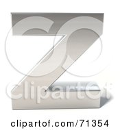 Royalty Free RF Clipart Illustration Of A 3d Chrome Capital Letter Z