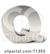 Royalty Free RF Clipart Illustration Of A 3d Chrome Capital Letter Q