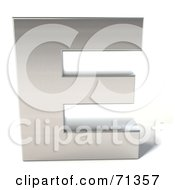 Royalty Free RF Clipart Illustration Of A 3d Chrome Capital Letter E