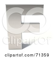 Royalty Free RF Clipart Illustration Of A 3d Chrome Capital Letter F