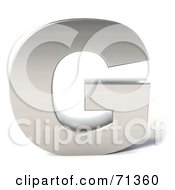 Royalty Free RF Clipart Illustration Of A 3d Chrome Capital Letter G