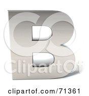 3d Chrome Capital Letter B