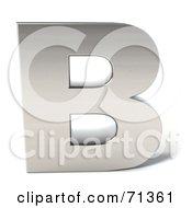 Royalty Free RF Clipart Illustration Of A 3d Chrome Capital Letter B by Julos