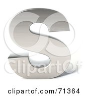 Royalty Free RF Clipart Illustration Of A 3d Chrome Capital Letter S