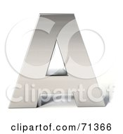 Royalty Free RF Clipart Illustration Of A 3d Chrome Capital Letter A