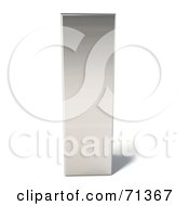 Royalty Free RF Clipart Illustration Of A 3d Chrome Capital Letter I