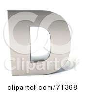 Royalty Free RF Clipart Illustration Of A 3d Chrome Capital Letter D
