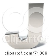 Royalty Free RF Clipart Illustration Of A 3d Chrome Capital Letter J