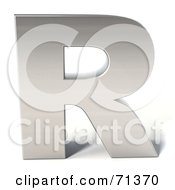 Royalty Free RF Clipart Illustration Of A 3d Chrome Capital Letter R
