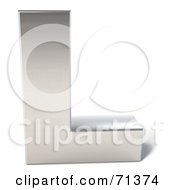 Royalty Free RF Clipart Illustration Of A 3d Chrome Capital Letter L