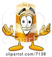 Clipart Picture Of A Barrel Mascot Cartoon Character With Welcoming Open Arms