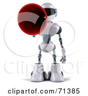 3d Techno Robot Character Using A Megaphone Pose 1 by Julos