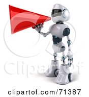 3d Techno Robot Character Using A Megaphone Pose 3 by Julos