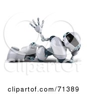 3d Techno Robot Character Waving And Relaxing by Julos