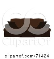 Royalty Free RF Clipart Illustration Of A Brown Sofa With A Skirt by JR